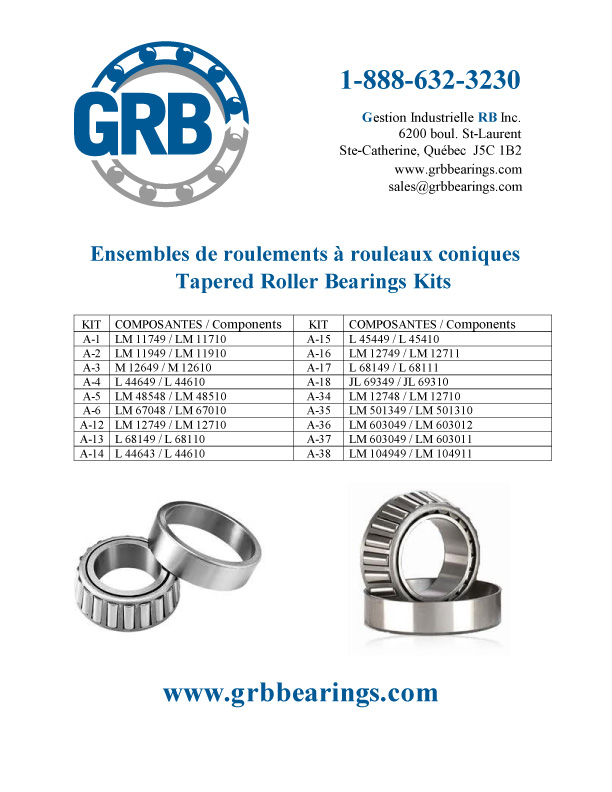 Tapered Roller Bearings Kits flyer