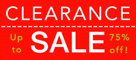Clearance Sale - Up to 75% off!